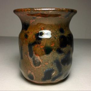 Hand-thrown Ceramic cup speckled earthtones, small